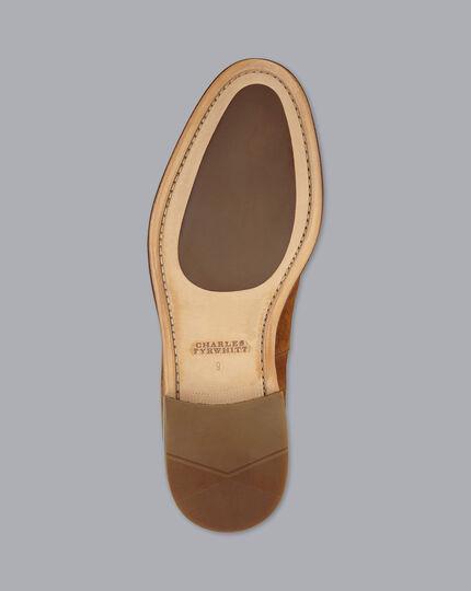 Quasten-Loafer mit flexibler Sohle - Gelbbraun