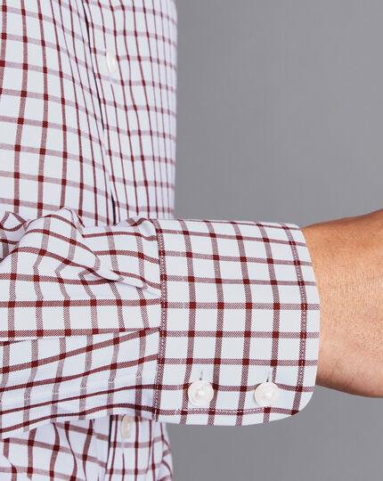 Non-Iron Twill Check Shirt - Berry