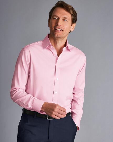 Non-Iron Twill Puppytooth Shirt - Pink