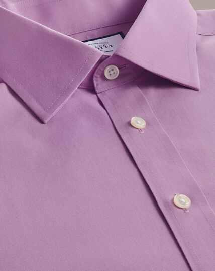 Non-Iron Poplin Shirt - Violet