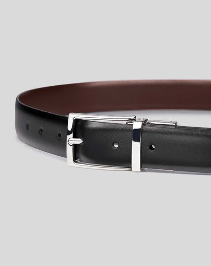 Reversible Made in England Leather Belt - Black & Brown