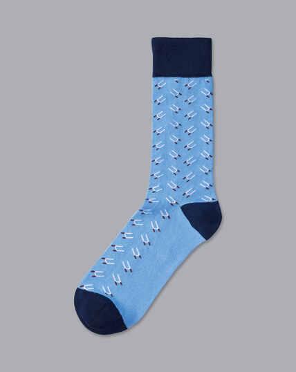England Rugby Rugby Post Socks - Cornflower Blue