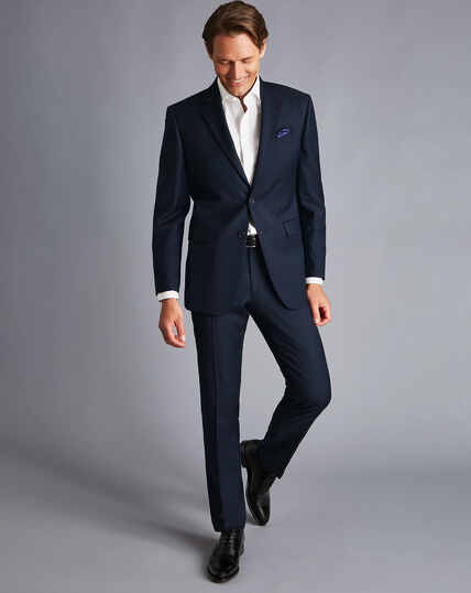 Twill Business Suit Jacket - Navy