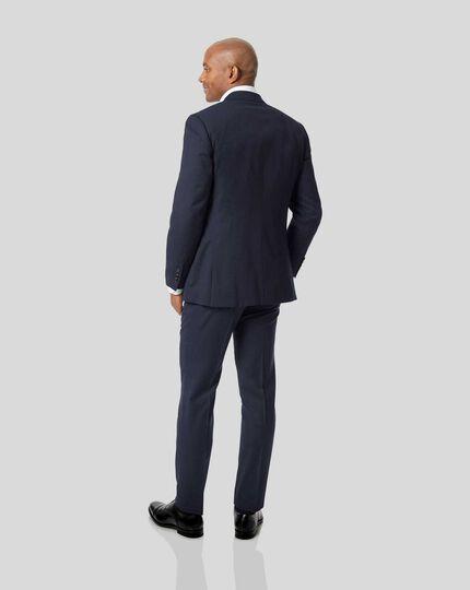 Travel-Anzug mit Streifen dezenter Birdseye Struktur - Marineblau