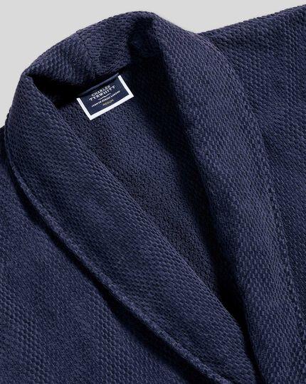 Waffle Robe - French Blue