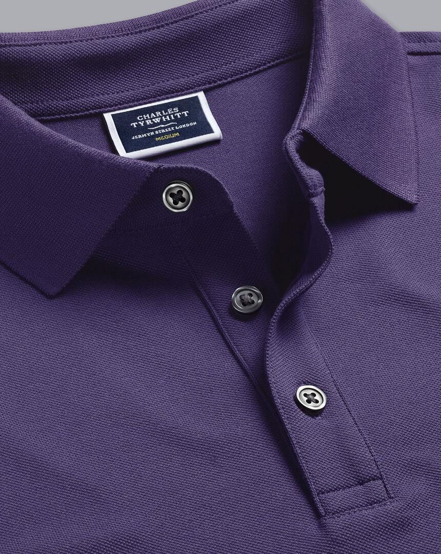 Tyrwhitt Pique Polo - Purple
