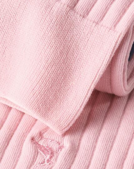 Cotton Rib Socks - Light Pink