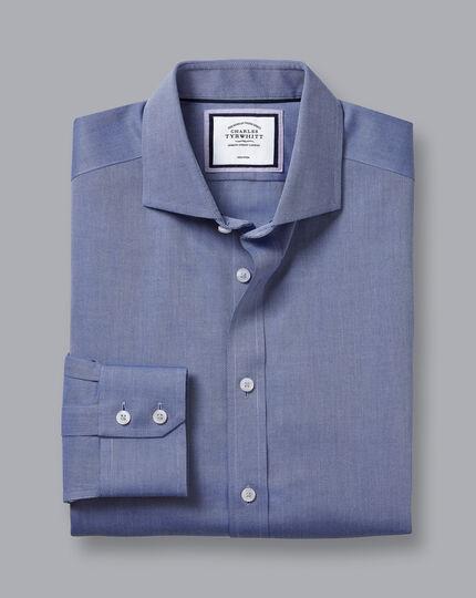 Cutaway Collar Non-Iron Regent Weave Shirt - Royal Blue