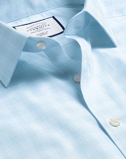 Non-Iron Prince of Wales Check Shirt - Sky