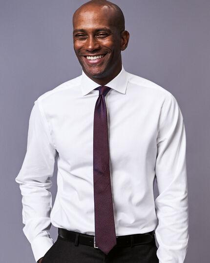 Schmutzabweisende schmale Krawatte aus Seide - Rostfarben