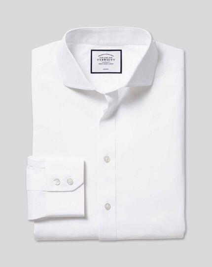 Cutaway Collar Non-Iron Poplin Shirt - White