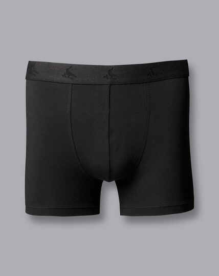 3 Pack Cotton Stretch Jersey Trunks - Black