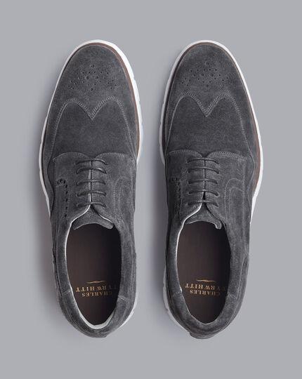 Suede Hybrid Sneakers - Charcoal Grey