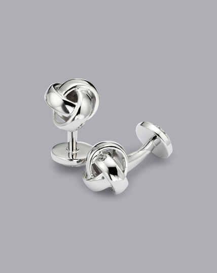 Knot Cufflinks - Silver