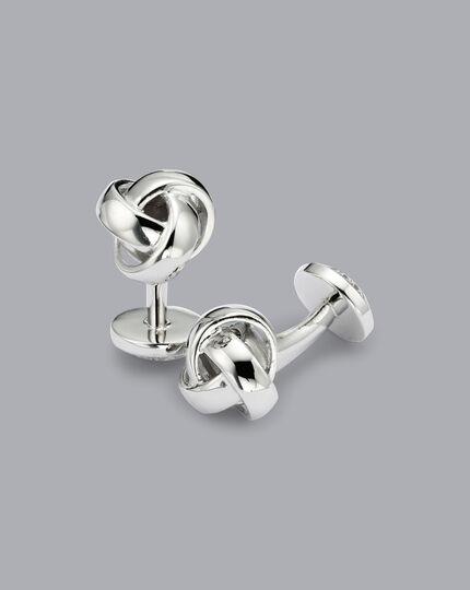 Knoten-Manschettenknöpfe - Silber