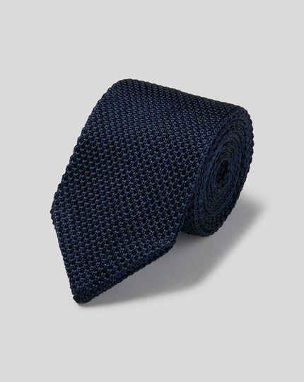 Slim Silk Knitted Tie - Royal Blue
