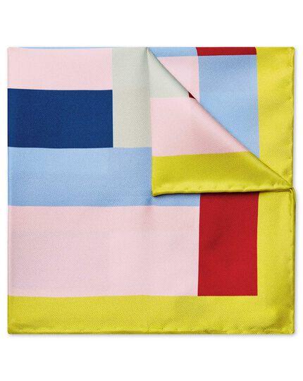 Multi large geo print pocket square