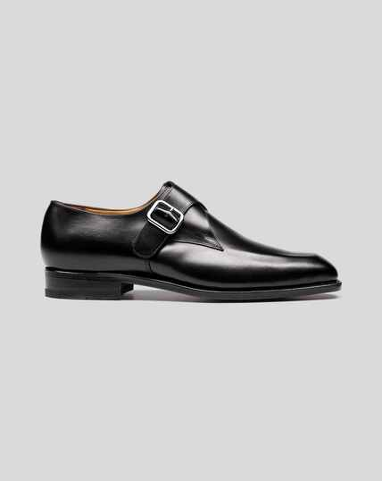 Goodyear Welted Monk Shoes - Black