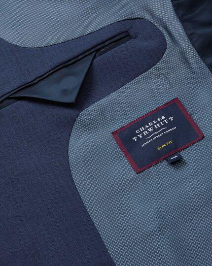 Herringbone Suit Jacket - Royal Blue