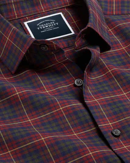 Flanellhemd mit Schottenkaros - Rot
