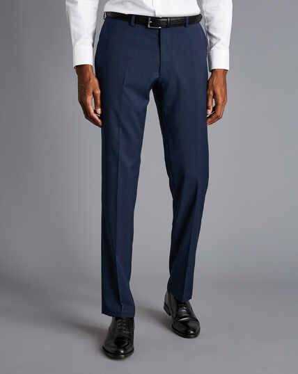 Pindot Travel Suit Pants - French Blue