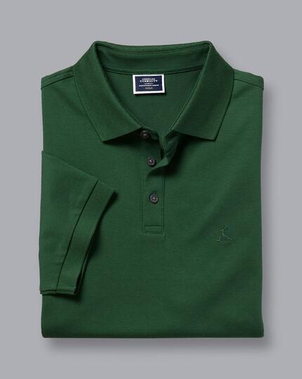 Tyrwhitt Pique Polo - Forest Green