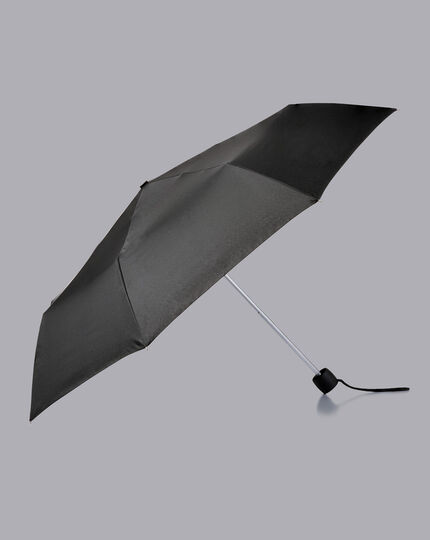 Compact Wind Resistant Umbrella - Black