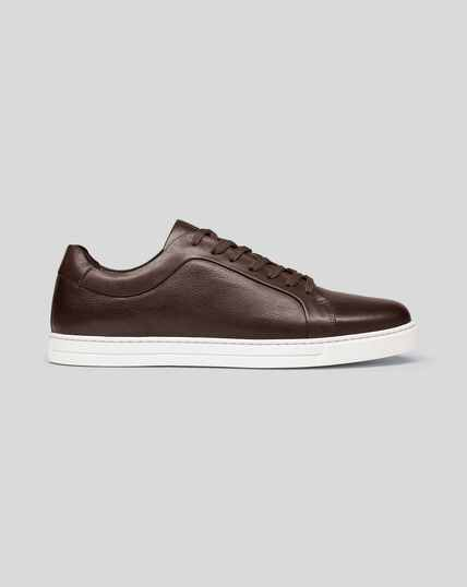 Leather Sneakers - Chocolate Brown