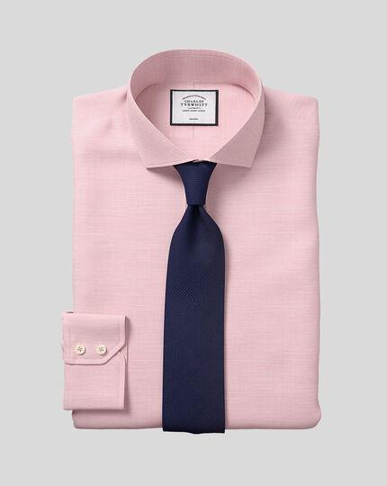 Cutaway Collar Non-Iron Cotton Slub Shirt - Pink