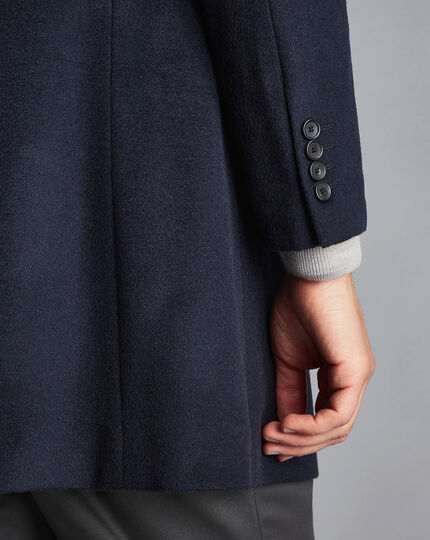 Wool Overcoat - Navy