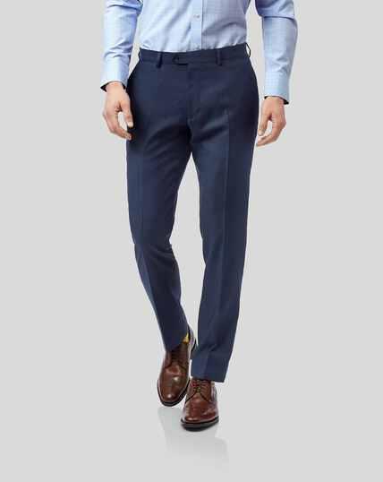 Twill Business Suit Pants - Blue