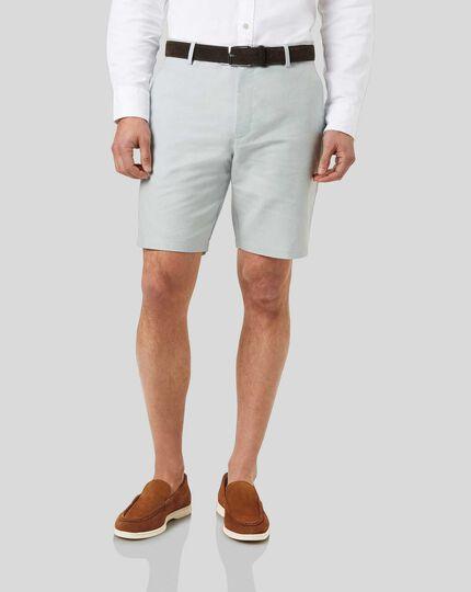 Linen Cotton Shorts - Light Grey