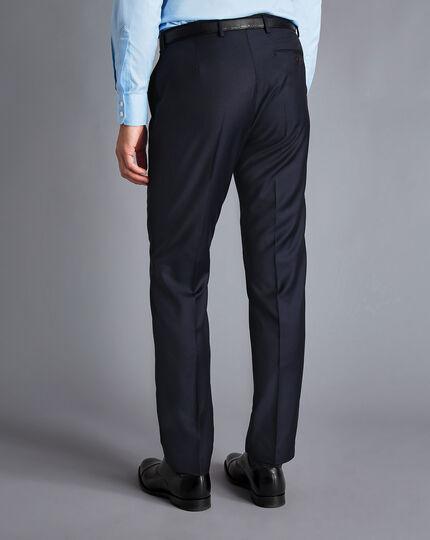 Italian Luxury Twill Suit Pants - Navy