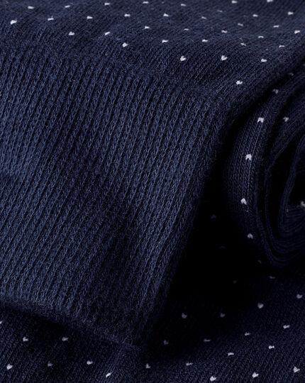 Micro Dash Socks - French Blue & White