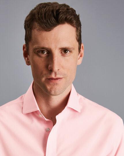 Cutaway Collar Non-Iron Poplin Shirt - Pink