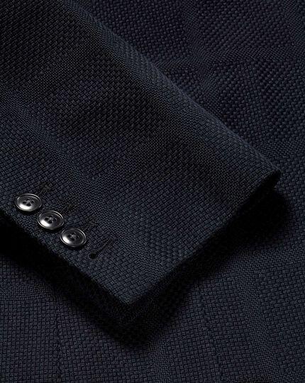 Italian Check Jersey Jacket - Navy