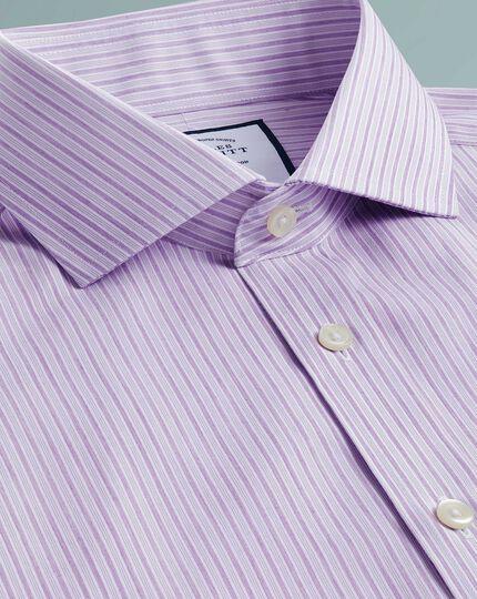Non-Iron Shadow Stripe Shirt - Purple