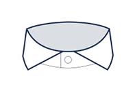 Formal shirt cutaway collar illustration