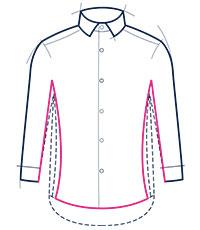 Extra slim fit shirt illustration