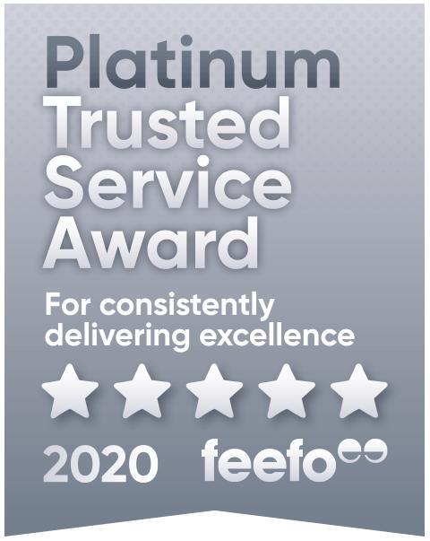 Feefo PlatinumTrusted Service 2020 winner logo