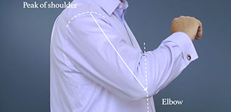 How to measure for a shirt step 5
