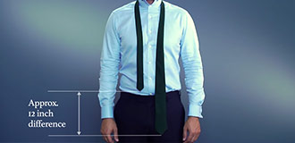 How to tie a four-in-hand knot step 1