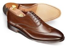 Plain wing cap shoe pattern