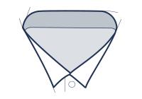 Formal shirt wing collar illustration