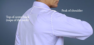 How to measure for a shirt step 4