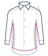 Slim fit shirt illustration