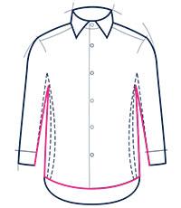Classic fit shirt illustration