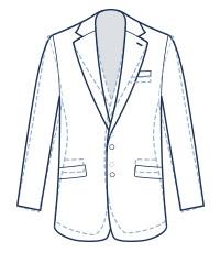 Classic suit fit illustration