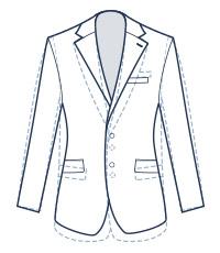 Slim suit fit illustration