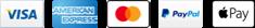 We accept Visa, American Express, Mastercard, Paypal and Apple Pay